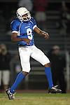 Culver City, CA 09/17/10 - Jordan Arrington (Culver City #9) in action during the Peninsula Panthers-Culver City Centaurs varsity football game at Culver City High School.