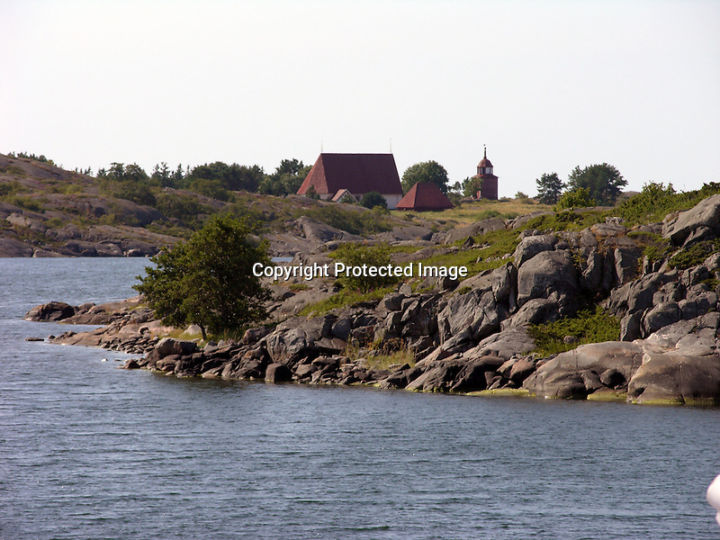 Church on the Island of Kökar, Åland, Finland