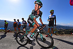Pawel Poljanski (POL) Bora-Hansgrohe on the final climb during Stage 15 of La Vuelta 2019 running 154.4km from Tineo to Santuario del Acebo, Spain. 8th September 2019.<br /> Picture: Dario Belingheri/BettiniPhoto | Cyclefile<br /> <br /> All photos usage must carry mandatory copyright credit (© Cyclefile | Dario Belingheri/BettiniPhoto)