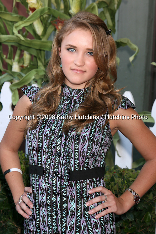 Emily Osment arriving to the Camp Ronald McDonald Event on the backlot of Universal Studios, in Los Angeles, CA  on.October 26, 2008.©2008 Kathy Hutchins / Hutchins Photo...                .