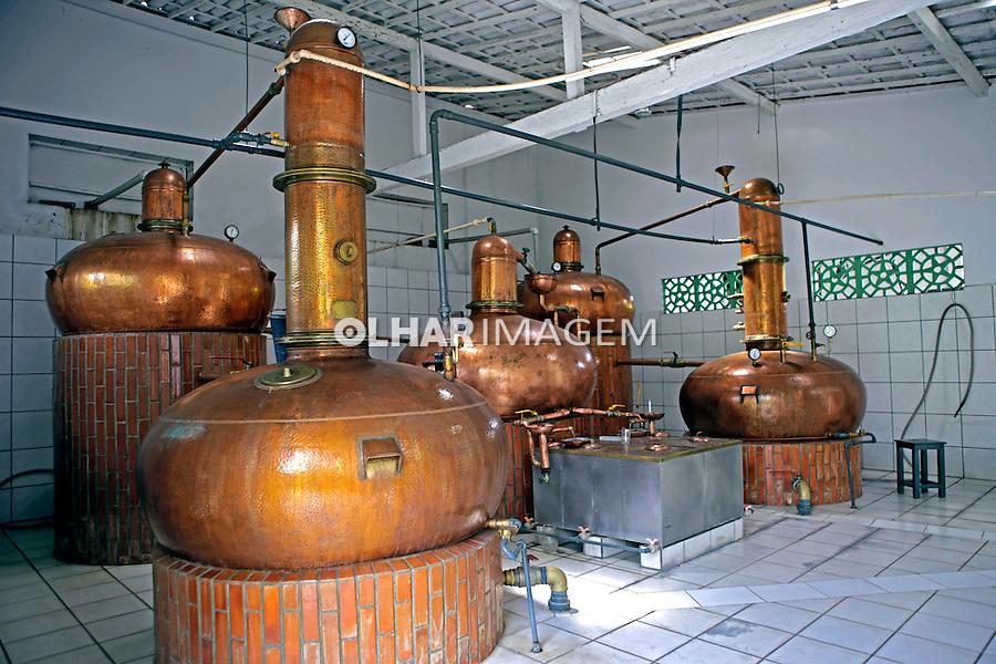 Destilaria de cachaça Ipueira no municipio de Areia. Paraiba. 2015. Foto de Kleide Teixeira.