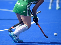 Ireland sneaks off with Spain's stick<br /> <br /> Photographer Hannah Fountain/CameraSport<br /> <br /> Vitality Hockey Women's World Cup - Ireland v Spain - Saturday 4th August 2018 - Lee Valley Hockey and Tennis Centre - Stratford<br /> <br /> World Copyright &copy; 2018 CameraSport. All rights reserved. 43 Linden Ave. Countesthorpe. Leicester. England. LE8 5PG - Tel: +44 (0) 116 277 4147 - admin@camerasport.com - www.camerasport.com