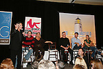 Frank Dicopoulos, Tom Pelphrey, Kim Zimmer, Ron Raines, Jeff Branson and Gina Tognoni and GL director Adam Reist - So Long Springfield celebrating 7 wonderful decades of Guiding Light Event (Saturday afternoon) come to see fans at the Hyatt Regency Pittsburgh International Airport, in Pittsburgh, PA. during the weekend of October 24 and 25, 2009. (Photo by Sue Coflin/Max Photos)