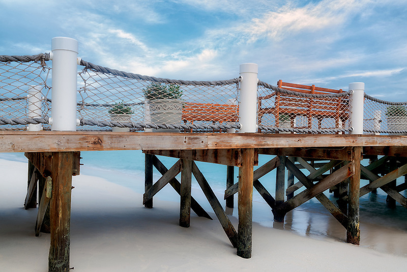 Pier in Turks and Caicos. Providenciales