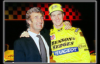 Eddie Jordan & Ralf Schumacher - The Jordan F1 team car launch - The Ballroom, Hilton Hotel, Park Lane, London W1 - 1997