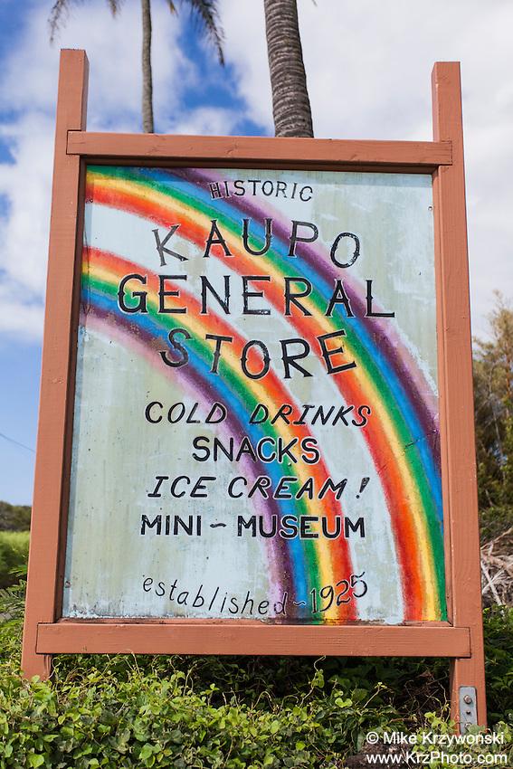 Historic Kaupo General Store sign, Kaupo, Maui