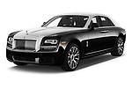 2017 Rollsroyce Ghost            Base 4 Door Sedan angular front stock photos of front three quarter view