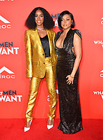 LOS ANGELES, CA. January 28, 2019: Kelly Rowland &amp; Taraji P. Henson  at the US premiere of &quot;What Men Want!&quot; at the Regency Village Theatre, Westwood.<br /> Picture: Paul Smith/Featureflash