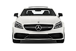 Car photography straight front view of a 2017 Mercedes Benz CLS AMG-63-S 4 Door Sedan Front View