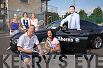 Front l-r John Finnegan, Cliona Ruttledge, Gordon Lunn, Aherns BMW, Back Roberta Kneeshaw, Chairperson, Rosemarie Broderick, PRO, Nuala Finnegan, Lady Captain, Launch the Tralee Tennis Club's First BMW Club Championship.  Sponsored by BMW and Aherns, Castleisland on the  23rd to 27th September