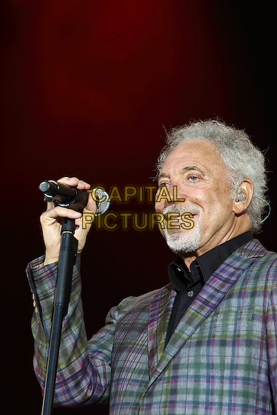 CHELMSFORD, ESSEX - Tom Jones performs at V Festival 2015 at Hylands Park, on 22nd and 23rd of August 2015 in Chelmsford, Essex<br /> CAP/ROS<br /> &copy;Steve Ross/Capital Pictures