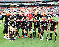 Starting eleven of D.C. United during an MLS match against Seattle Sounders FC at RFK Stadium on July 15 2010, in Washington DC.Seattle won 1-0.