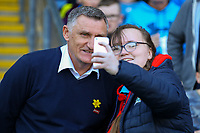 Blackburn Rovers manager Tony Mowbray has a picture taken with a fan before the match<br /> <br /> Photographer Alex Dodd/CameraSport<br /> <br /> The EFL Sky Bet Championship - Blackburn Rovers v Stoke City - Saturday 6th April 2019 - Ewood Park - Blackburn<br /> <br /> World Copyright © 2019 CameraSport. All rights reserved. 43 Linden Ave. Countesthorpe. Leicester. England. LE8 5PG - Tel: +44 (0) 116 277 4147 - admin@camerasport.com - www.camerasport.com