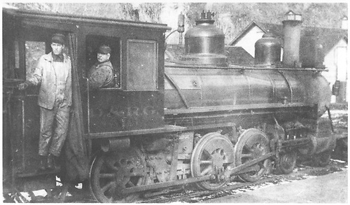 Unidentified engine with crew.<br /> D&amp;RGW