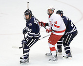 Dalton Speelman (UNH - 10), Riley Nash (Cornell - 14) - The University of New Hampshire Wildcats defeated the Cornell University Big Red 6-2 (EN) on Friday, March 26, 2010, in their NCAA East Regional semi-final at the Times Union Center in Albany, New York.