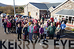 Walkers gathered outside the Hall in Dungegan for a 4 mile walk on Sunday last in aid of the Haiti disaster.