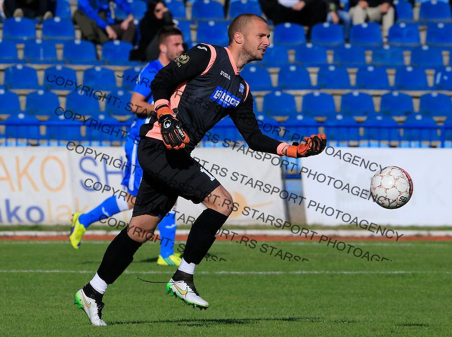 Fudbal Super League season 2015-2016<br /> OFK Beograd v Rad<br /> Goalkeeper Ognjen Cancarevic<br /> Beograd, 14.10.2015.<br /> foto: Srdjan Stevanovic/Starsportphoto&copy;