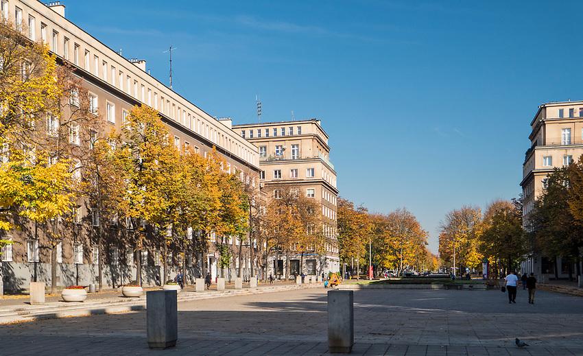 Plac Centralny im. Ronalda Reagana w Krakowie -  centralne miejsceNowej Huty.