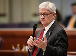 Nevada Assemblyman Erven Nelson, R-Las Vegas, speaks on the Assemby floor at the Legislative Building in Carson City, Nev., on Wednesday, May 13, 2015.<br /> Photo by Cathleen Allison