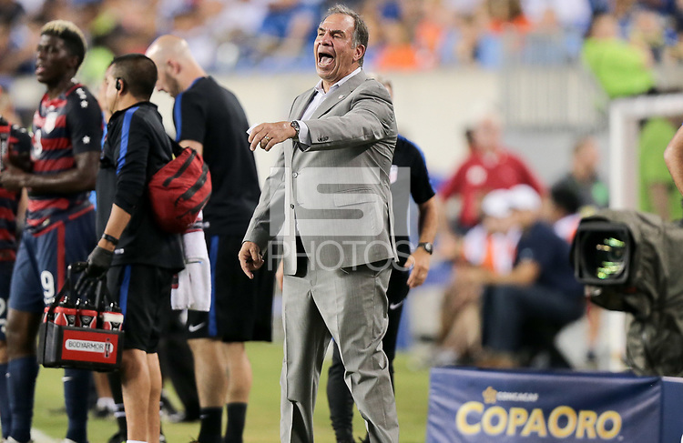 Philadelphia, PA - Wednesday July 19, 2017: Bruce Arena during a 2017 Gold Cup match between the men's national teams of the United States (USA) and El Salvador (SLV) at Lincoln Financial Field.