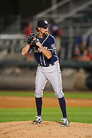 New Hampshire Fisher Cats relief pitcher Wil Browning (27) during a game against the Harrisburg Senators on June 2, 2016 at FNB Field in Harrisburg, Pennsylvania.  New Hampshire defeated Harrisburg 2-1.  (Mike Janes/Four Seam Images)