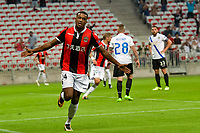 Celebration Esultanza Gol  - Alassane Plea (OGC Nice)<br /> Nizza 28-09-2017 Football Europa League 2017/2018 Group K Nice - Vitesse Foto Norbert Scanella/Panoramic