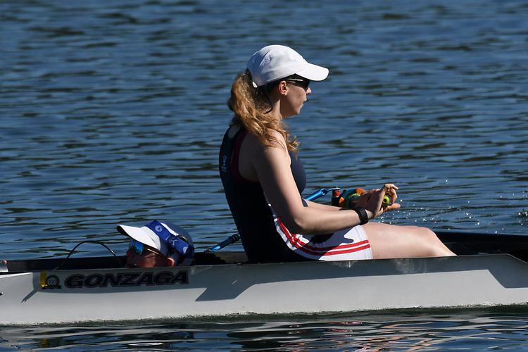 May 13, 2017; Gold River, CA, USA; I Four Gonzaga Bulldogs during the WCC Rowing Championships at Lake Natoma.
