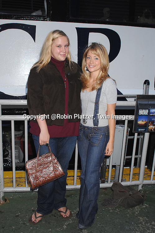 Caitlin Van Zandt and Marcy Rylan..at The Ricky Paull Goldin Cruise on October 7, 2007 on..board The Spirit of the Hudson at Chelsea Piers. ....Photo by Robin Platzer, Twin Images....212-935-0770