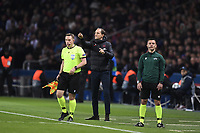 6th November 2019, Paris France; UEFA Champions league football, Paris St German versus Brugges;   THOMAS TUCHEL TRAINER of PSG