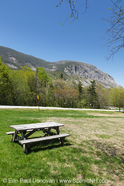 Franconia Notch State Park....Cannon Mountain from Lafayette Place during the spring months. Located in Lincoln, New Hampshire USA