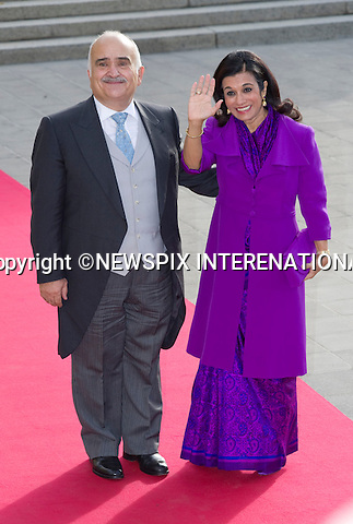 "PRINCE HASSAN AND PRINCESS SARVATH OF JORDAN.Wedding of HRH the Hereditary Grand Duke and Countess Stéphanie de Lannoy.Religious Ceremony at Cathedral of Our lady of Luxembourg, Luxembourg_20-10-2012.Mandatory credit photo: ©Dias/NEWSPIX INTERNATIONAL..(Failure to credit will incur a surcharge of 100% of reproduction fees)..                **ALL FEES PAYABLE TO: ""NEWSPIX INTERNATIONAL""**..IMMEDIATE CONFIRMATION OF USAGE REQUIRED:.Newspix International, 31 Chinnery Hill, Bishop's Stortford, ENGLAND CM23 3PS.Tel:+441279 324672  ; Fax: +441279656877.Mobile:  07775681153.e-mail: info@newspixinternational.co.uk"