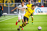 11.05.2019, Signal Iduna Park, Dortmund, GER, 1.FBL, Borussia Dortmund vs Fortuna D&uuml;sseldorf, DFL REGULATIONS PROHIBIT ANY USE OF PHOTOGRAPHS AS IMAGE SEQUENCES AND/OR QUASI-VIDEO<br /> <br /> im Bild | picture shows:<br /> Christian Pulisic (Borussia Dortmund #22) im Duell mit Markus Suttner (Fortuna #14), <br /> <br /> Foto &copy; nordphoto / Rauch