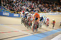Picture by SWpix.com - 03/03/2018 - Cycling - 2018 UCI Track Cycling World Championships, Day 4 - Omnisport, Apeldoorn, Netherlands - Men's Omnium Scratch Race - Jan Willem van Schip of Holland