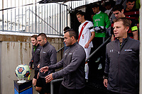 Chester, PA - Sunday December 10, 2017: Referees during the NCAA 2017 Men's College Cup championship match between the Stanford Cardinal and the Indiana Hoosiers at Talen Energy Stadium.