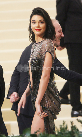 NEW YORK, NY May 01, 2017  Kendall Jenner  attend  The Metropolitan Museum of Art Costume Institute Benefit Gala for Rei Kawakubo Comme des Garcons at  Metropolitan Museum of Art  in New York May 01,  2017. Credit:RW/MediaPunch