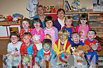 ..PYJAMAS: On Wednesaday morning children from Joyy Tots Pre-school, Ballyheigue with their mentors held a Pyjamas morning for Self Help Africa. The children were: Adi Corriodan, Diarmuid Behan, Eilis Gaynor, Evan Casey, Kate Kenny, Katie Ellen Reidy, Melanie Dineen Higgins, Patrick Power O'Connor, Rory Cantillon, Shane Lawless and XavierCollins, Geraldine Galway (pre-school owner) and assistant Mary Maunsell.....   Copyright Kerry's Eye 2008