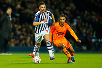 3rd March 2020; The Hawthorns, West Bromwich, West Midlands, England; English FA Cup Football, West Bromwich Albion versus Newcastle United; Kieran Gibbs of West Bromwich Albion is tracked by Valentino Lazaro of Newcastle United
