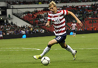 MEXICO CITY, MEXICO - AUGUST 15, 2012:  Brek Shea (11) of the USA MNT in action against Mexico during an international friendly match at Azteca Stadium, in Mexico City, Mexico on August 15. USA won 1-0.
