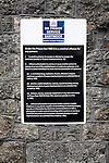 List or rules and laws outside Dartmoor prison, Princetown, Devon, England, UK