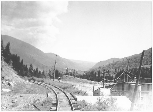 St. Louis Mine and RGS service track.<br /> RGS  Rico, CO  Taken by Barriger, John W. III - 7/3/1938