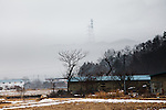 Tamura, February 23 2012 - Electricity poles coming from Fukushima Daiichi nuclear power plants.