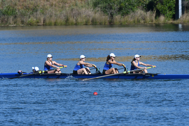 May 13, 2017; Gold River, CA, USA; I Four Creighton Blue Jays during the WCC Rowing Championships at Lake Natoma.