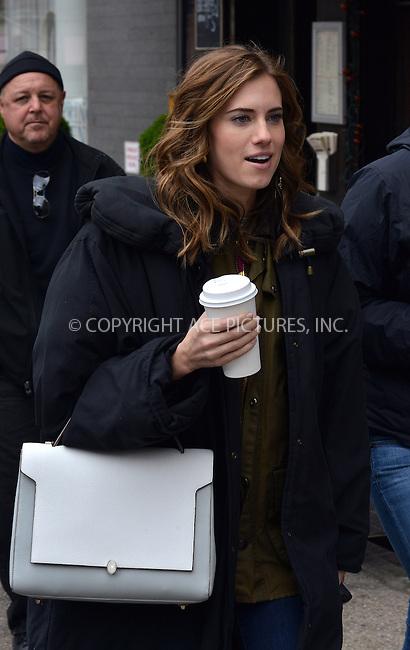 WWW.ACEPIXS.COM<br /> <br /> April 23 2014, New York City<br /> <br /> Actress Allison Williams was on the set of the TV show 'Girls' on April 23 2014 in New York City<br /> <br /> By Line: Curtis Means/ACE Pictures<br /> <br /> <br /> ACE Pictures, Inc.<br /> tel: 646 769 0430<br /> Email: info@acepixs.com<br /> www.acepixs.com