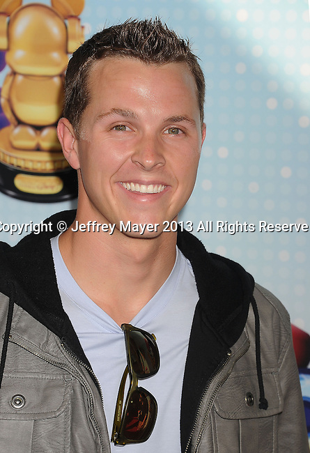 LOS ANGELES, CA- APRIL 27: Actor Trevor Bayne arrives at the 2013 Radio Disney Music Awards at Nokia Theatre L.A. Live on April 27, 2013 in Los Angeles, California.