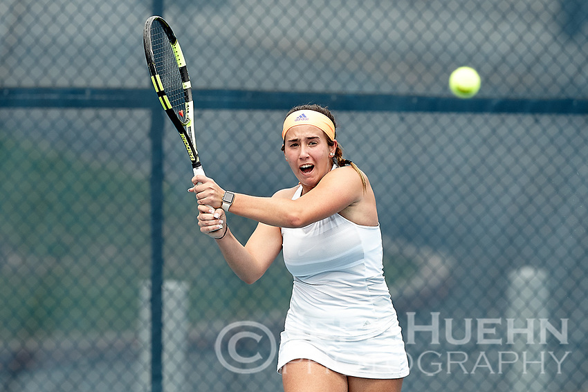 SAN ANTONIO, TX - MARCH 4, 2018: The University of Texas at San Antonio Roadrunners defeat the Texas State University Bobcats 4-0 at the UTSA Tennis Center. (Photo by Jeff Huehn)