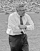Washington Redskins head coach Vince Lombardi yells instructions to his team as he paces the sidelines during the game against the Saint Louis Cardinals at RFK Stadium in Washington, DC on October 12, 1969. The Redskins won the game 33 - 17.<br /> Credit: Arnie Sachs / CNP