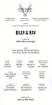 Program for the Off-Broadway opening Night Performance Curtain Call for 'Billy & Ray' at the Vineyard Theatre on October 20, 2014 in New York City.