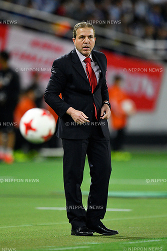 Ayman Alhakim Head Coach (SYR), <br /> JUNE 7, 2017 - Football / Soccer : <br /> KIRIN Challenge Cup 2017 match <br /> between Japan 1-1 Syria <br /> at Ajinomoto Stadium in Tokyo, Japan. <br /> (Photo by AFLO)