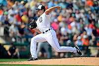 Detroit Tigers pitcher Kyle Lobstein #31 during a Spring Training game against the Atlanta Braves at Joker Marchant Stadium on February 27, 2013 in Lakeland, Florida.  Atlanta defeated Detroit 5-3.  (Mike Janes/Four Seam Images)