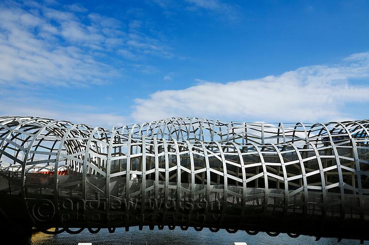 The Webb Bridge in the Docklands of Melbourne, Victoria, AUSTRALIA.